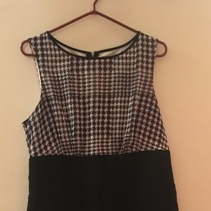 Houndstooth and black dress